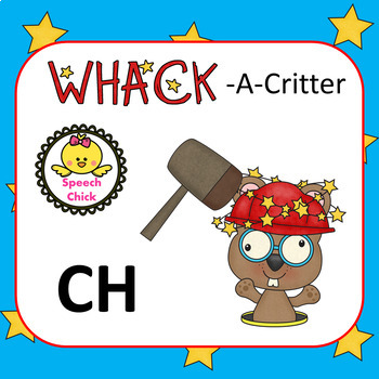 Whack-A-Critter /CH/ Articulation Cards