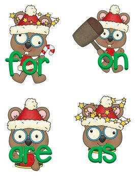 """""""Whack-A Mole"""" Christmas (Fry First 100, games and worksheets)"""
