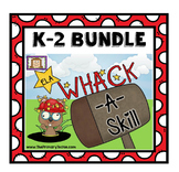 Whack-A-Reading Skill K-2 Mega Bundle