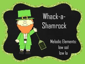 Whack A Shamrock:  low la, low sol
