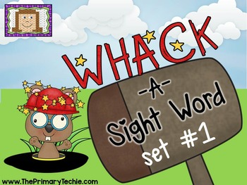 Whack-A-Sight Word #1