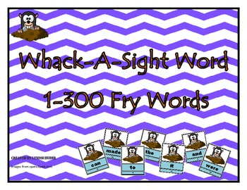 Whack-A-Sight Word Fry 1-300 Sight word Game