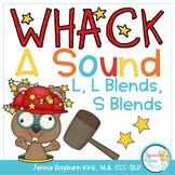 Whack A Sound L, L Blends, S Blends: Self Checking Articulation Game