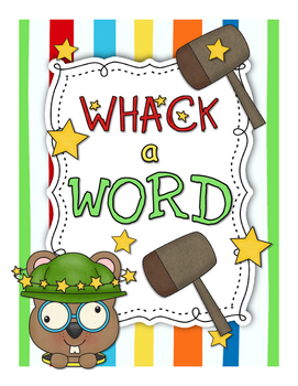 Whack A Word Spelling Station