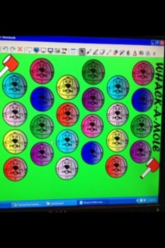 Whack a Mole Smartboard Music Game 1st-2nd Graders