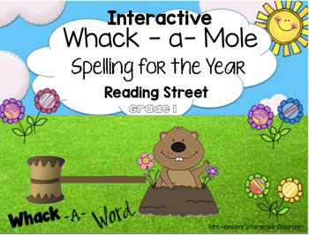 Whack a Mole Spelling Reading Street for the Whole Year - Grade 1