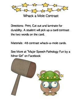 Whack-a-mole Contrast!
