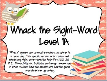 Whack the Sight-Word Level 1A (Fry's)