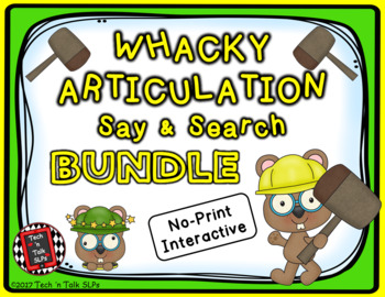 Whacky Articulation Say and Search BUNDLE