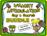 lWhacky Articulation Say and Search BUNDLE