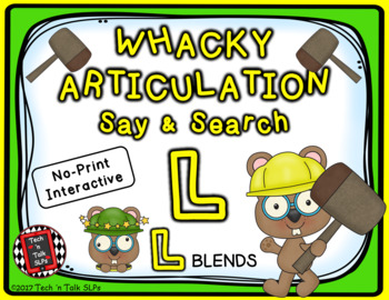Whacky Articulation Say and Search L and L Blends