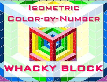 Whacky Block Isometric Color-by-Number