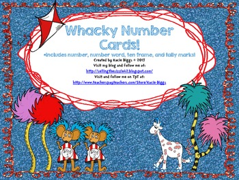 Whacky themed number cards!