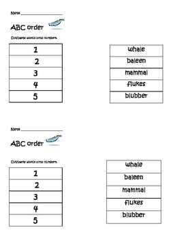 Whale ABC order