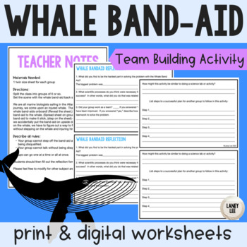 Whale Band-Aid Team Building Activity