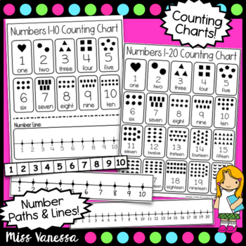 Printable Number Charts, Counting Tools And Number Lines