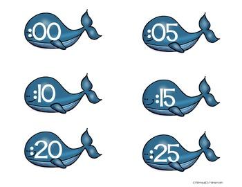 Whale Clock Labels
