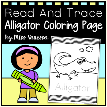 Alligator Coloring Page for Kids