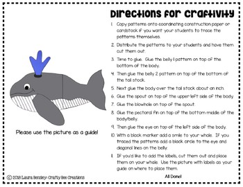 Whale Craft (Label It!)