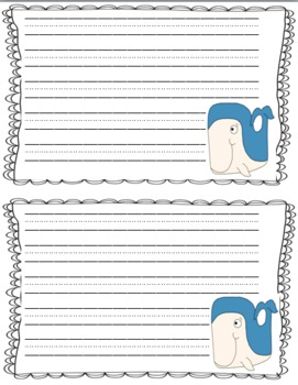 Whale  Craftivity Packet