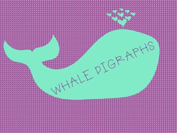 Whale Digraph Card Game- Orton Gillingham