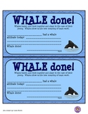 Whale Done Award