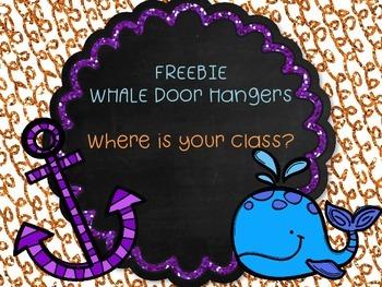Whale Door Hangers FREEBIE
