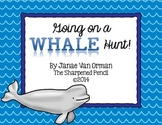 Whale Informational Task Cards with Three Writing Prompts