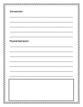 Whale Informational Report Writing Sheets, 12 Total Pages!!