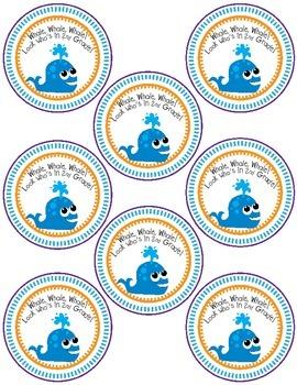 Ocean Open House Treat- Whale Labels!