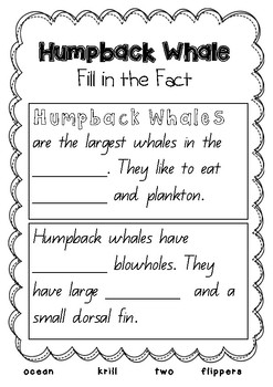 Whale Mini Writing Unit