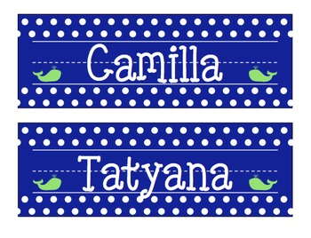 Whale Nameplates