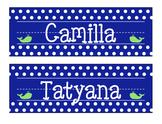 Whale Nameplates