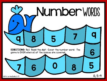 Whale Number Words Game