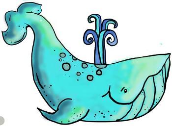 Whale (Ocean Theme) Clip Art (Clipart) Bundle, By JellyJams ~No Prep