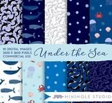 Whale Pattern Digital Paper