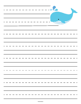 Whale Primary Lined Paper