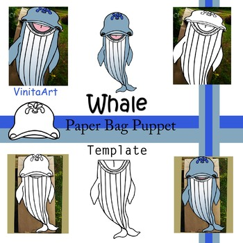 Whale Puppet, Whale Paper Bag Puppet, Whale Template, Whale