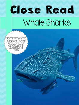 Whale Sharks  CLOSE READ 1360L