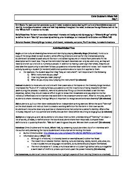 Whale Talk 10-Day Unit Lesson Plans