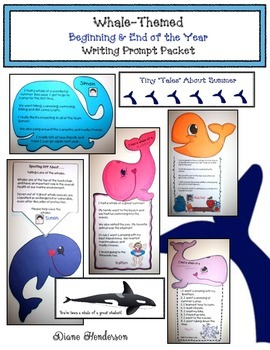 Whale-Themed Beginning & End of the Year Writing Prompt Activities