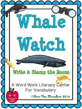 Whale Watch Write / Stamp the Room Activity Pack