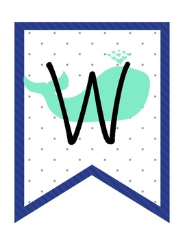 Whale Work Bunting Sign
