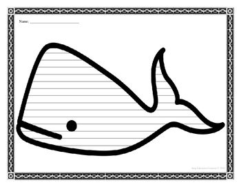 Whale Writing Paper