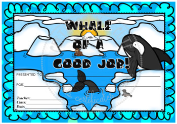 Whale of a Good Job!