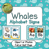 Whales Alphabet Signs