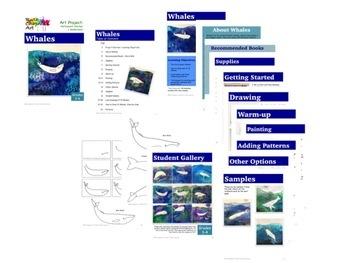 Whales: Art Lesson for Grades 3-6