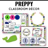 Preppy Whales Classroom Decor Bundle