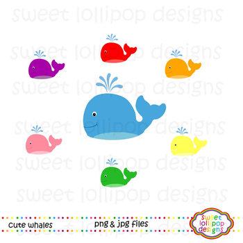 Whales Clip Art - Whales Clipart - Under the Sea Clip Art