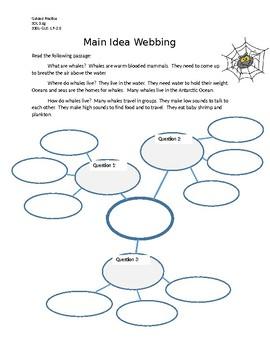 Whales Main Idea Webbing Practice